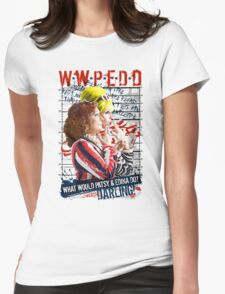 Absolutely Fabulous. AbFab. What Would Patsy and Edina Do, Darling? WWPEDD.  Womens Fitted T-Shirt