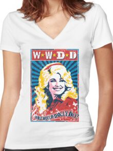 Dolly Parton. What Would Dolly Do? Nashville Country Music Women's Fitted V-Neck T-Shirt