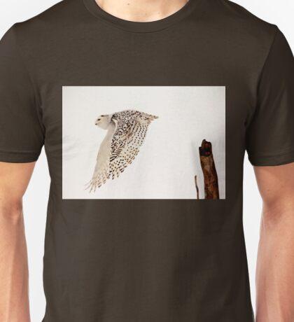 Snowy Owl In Flight Unisex T-Shirt