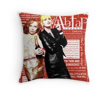 Absolutely Fabulous, Sweetie! Darling! Patsy and Edina. Ab Fab typography quotes. abfab. BBC Throw Pillow