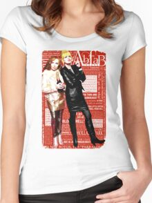 Absolutely Fabulous, Sweetie! Darling! Patsy and Edina. Ab Fab typography quotes. abfab. BBC Women's Fitted Scoop T-Shirt