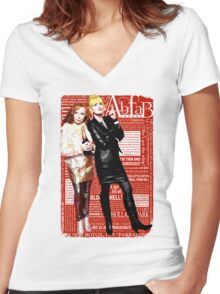 Absolutely Fabulous, Sweetie! Darling! Patsy and Edina. Ab Fab typography quotes. abfab. BBC Women's Fitted V-Neck T-Shirt
