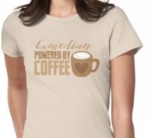 Comedian powered by COFFEE Womens Fitted T-Shirt