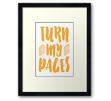 TURN MY PAGES Framed Print