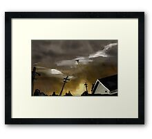 Rainy Night in a Small Town Framed Print