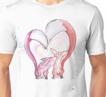 Fox Love - Kissing Foxes artwork Unisex T-Shirt
