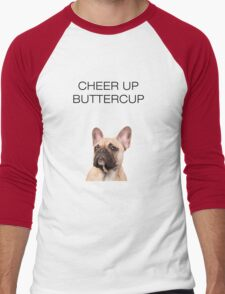 French Bulldog Cute Funny Men's Baseball ¾ T-Shirt