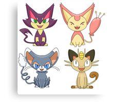 Cat Pokemon (Plain) Canvas Print