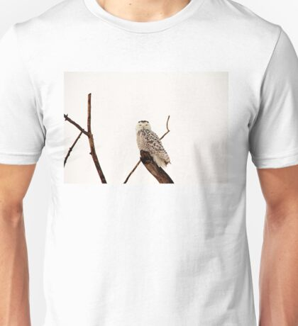 Snoozing Snowy Owl Unisex T-Shirt