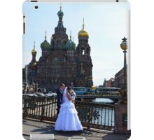 Bride and Groom at St. Petersburg, Russia, Church iPad Case/Skin