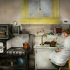 Kitchen - How I bake bread 1923 by Mike  Savad