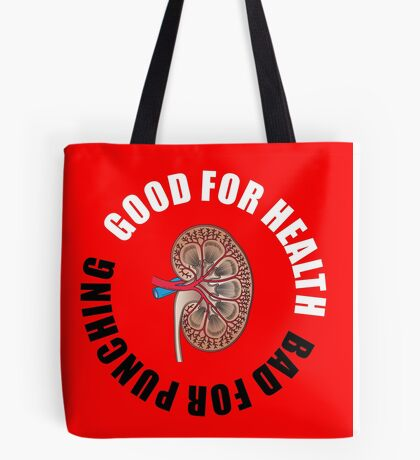 Good for health, bad for punching Tote Bag