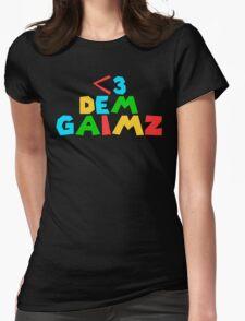 <3 DEM GAIMZ Womens Fitted T-Shirt