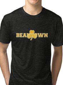 Beantown (gold on black) Tri-blend T-Shirt