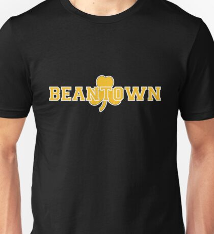 Beantown (gold on black) Unisex T-Shirt