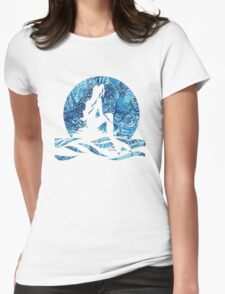 Lilly Pulitzer Inspired Mermaid (2) Dark N Stormy Womens Fitted T-Shirt