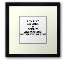 Run Like Mulder and Scully Framed Print