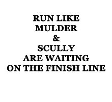 Run Like Mulder and Scully Photographic Print