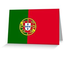 Flag of Portugal Greeting Card