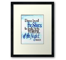Love The Stars Framed Print