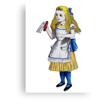 Alice 'Drink Me' Canvas Print