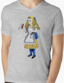 Alice 'Drink Me' Mens V-Neck T-Shirt