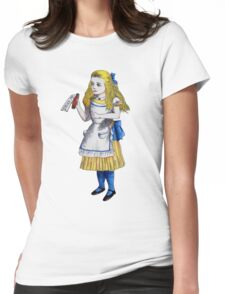 Alice 'Drink Me' Womens Fitted T-Shirt