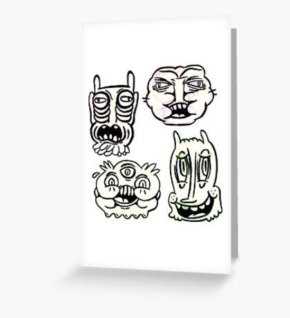 Ugly Buddies Greeting Card