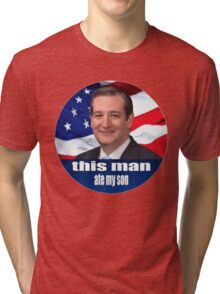 Ted Cruz is a monster 2016 Tri-blend T-Shirt