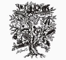 Art Tree One Piece - Short Sleeve
