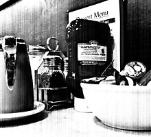 Breakfast At Spor's in Black and White by MotherNature2