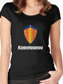 koenigsegg retro Women's Fitted Scoop T-Shirt