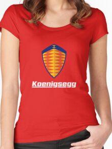koenigsegg retro Women's Fitted Scoop T-Shirt
