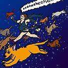 Witch Dog Walker by Tatiana  Gill