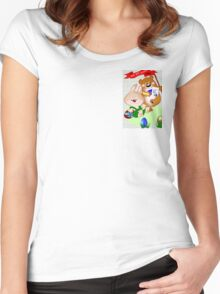Invitation to Easter egg hunt (2475 views) Women's Fitted Scoop T-Shirt