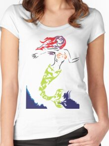 Mermaid out of Water Women's Fitted Scoop T-Shirt