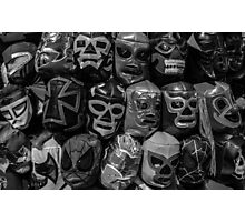 Lucha Libre Wrestling Mask Photographic Print