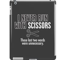 run scissors iPad Case/Skin