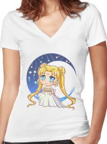 Sailor Moon - Princess Serenity Women's Fitted V-Neck T-Shirt