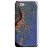 The Flame Tree (or) Rusty old Blue Drum iPhone Case/Skin