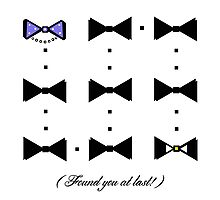 Found You At Last! (gold bow tie tux) Photographic Print