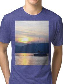 Dusk on the Lake Tri-blend T-Shirt