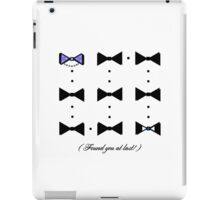 Found You At Last! (blue bow tie tux) iPad Case/Skin