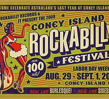 Coney Island Rockabilly Festival Poster by Jason Lonon