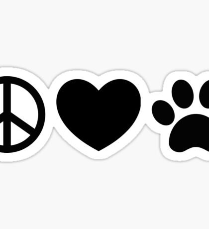 Peace, Love, Rescue Sticker