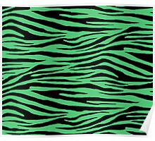 0250 Emerald or Paris Green Tiger Poster