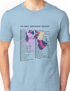 The Brony Achievement Checklist Unisex T-Shirt