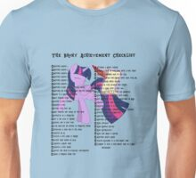 The Brony Achievement Checklist Unisex T-Shirt
