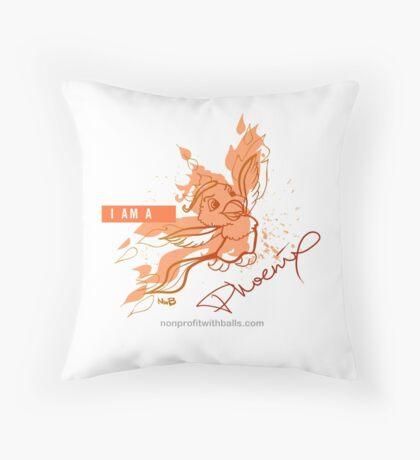 I AM A PHOENIX (square) Throw Pillow