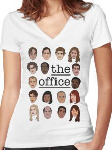 The Office Crew Women's Fitted V-Neck T-Shirt